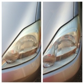 cleaning, headlights, car care, Colgate, toothpaste, life hack