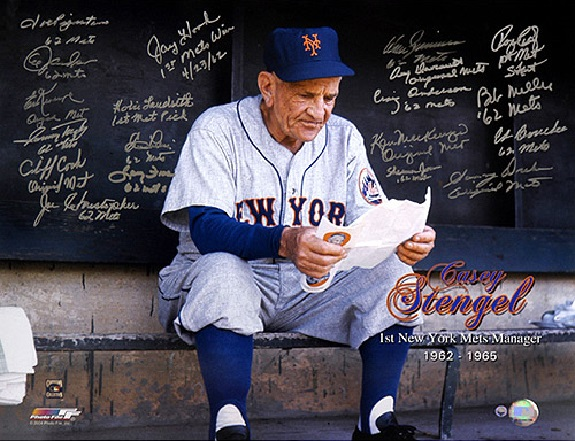 Casey Stengel, Mets, National League, New York, Polo Grounds, Queens, Shea Stadium