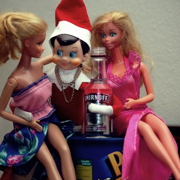 Elf Drinking