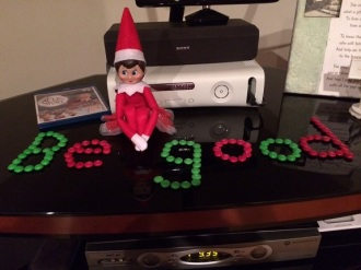 Day 13: We found Kira the Elf telling the kids to be good