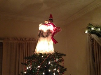Day 15: We found Kira the Elf hanging onto the angel on the top of the tree