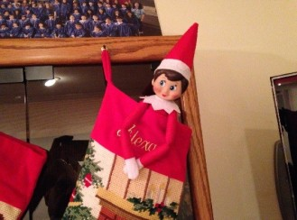 Day 16: We found Kira the Elf resting in my daughter's Christmas stocking