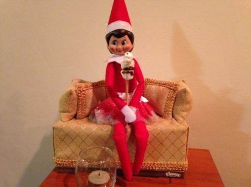 Day 7: We found Kira the Elf toasting marshmallows