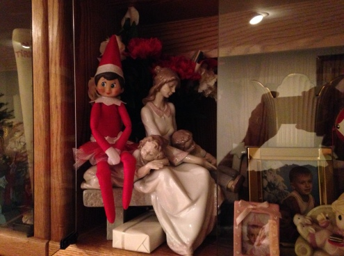 "Day 9: We found Kira the Elf sitting with the Lladro ""An Afternoon Nap"""