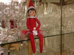 Day 20: We found Kira the Elf sitting in the china closet with all the wine glasses