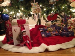 Day 23: We found Kira the Elf underneath the Christmas tree. I guess she is excited too.