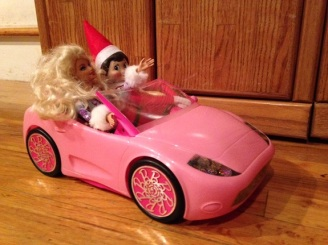Day 4: We found Kira the Elf driving Miss Barbie