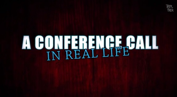 A conference all in real life