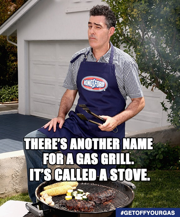 #GetOffYourGas, Kinsford, charcoal, grilling, BBQ