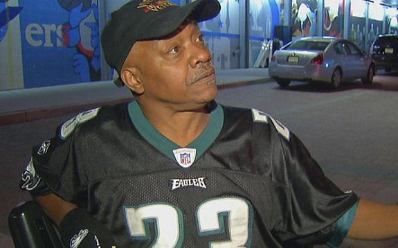 Veterans Prosthetic leg, Philadelphia Eagles, NFL, football, sports fans, Sonny Forriest Jr., Lincoln Financial Field, Eagles fans