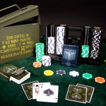 Ammo Can Poker Set, Man Crates, Gifts for men,