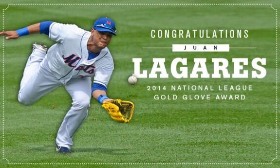 Major League Baseball, Juan Lagares, NY Mets, Mets, MLB, Rawlings, Gold Glove