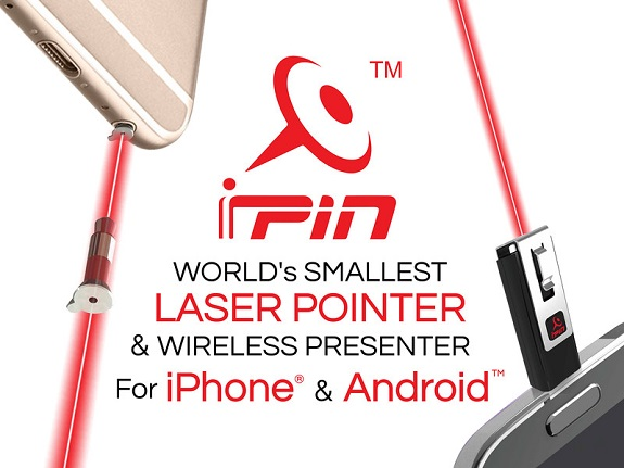 iPin Laser Pointer, Sanho Corporation, Hyper, BTtogo, Kickstarter, Wireless Presenter, iPhone, Android
