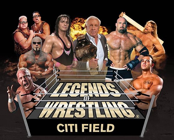 Legends Of Wrestling, Goldberg, Bret Hart, Ric Flair & Rob Van Dam, Citi Field, The Nasty Boys, Hacksaw Jim Duggan