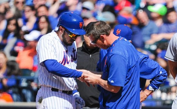Travis d'Arnaud, Jerry Blevins, NY Mets, Mets, medical, fracture