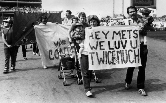 NY Mets, Banner Day, Citi Field, fans,