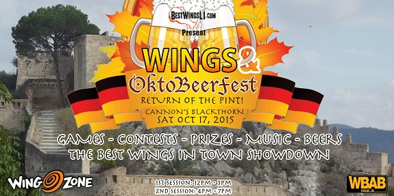 Long Island, wings, beer, craft beer, food, Oktoberfest, Octobeerfest, Cannon Blackthorn