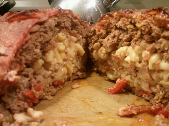 bacon wrapped meatloaf with mac and cheese recipe