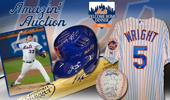 Auction, event, MLB, NY Mets, Welcome Home Dinner