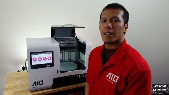 AIO Robotics, MyMiniFactory, Zeus 3D, 3D printing, Cubicon's CubiCreator, CEL Robox's Automaker