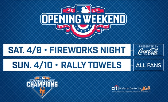 NY Mets, Mets, MLB, baseball, Opening Day, Opening Weekend, NL Champions,