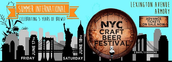 Beer, Beer Festival, cider, craft beer, Lexington Armory, mead, NYC, NYCCraftBeerFest, Summer