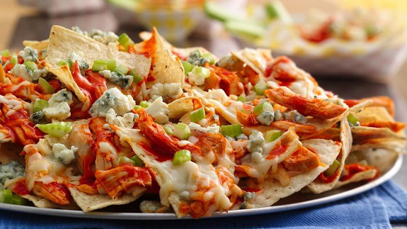 Appetizer, baked, chicken, football, Monterey Jack, nachos, Recipes, Super Bowl, summer