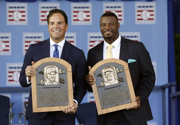 Ken Griffey Jr., Mike Piazza, HOF, Cooperstown, Hall of Fame, MLB, NY Mets, Seattle Mariners