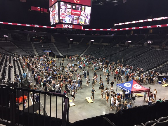 Tapped, Tapped Brooklyn, craft beer, cider, Barclays Center, beer festival, corn hole, beer pong, giant jenga, connect four