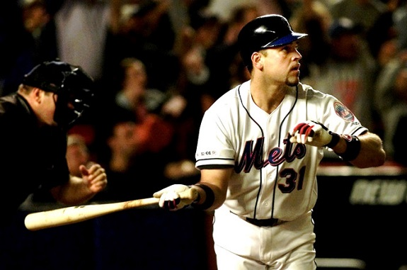 Mike Piazza, September 11, September 21, NY Mets, NYC, Home Run, Atlanta Braves