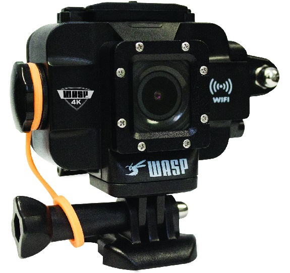 WASPcam, 4K, sports camera, wifi, waterproof, CAMO