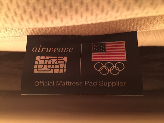 2016 Olympics, airweave, Japan, mattress pad, sleeping, Team USA