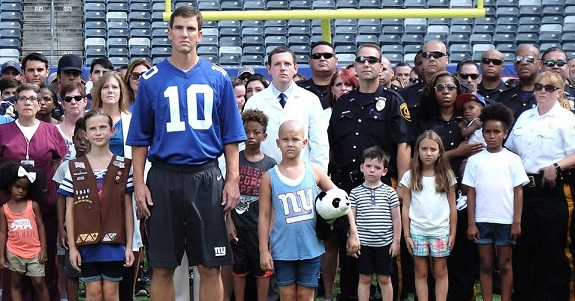 Eli Manning, Eli's Challenge, Hackensack University Medical Center Foundation, Tackle Kids Cancer, NY Giants, Children's Cancer Institute, cancer,