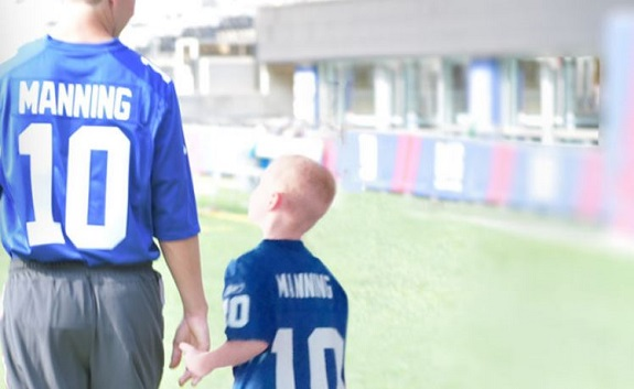 NY Giants, Eli Manning, Giants, NY Giants Dream Weekend, win,Tackle Kids Cancer