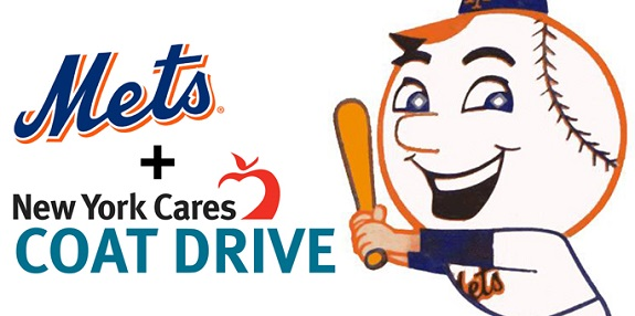 NY Mets, Coat Drive, Mr. Met, Robert Gsellman, Zack Wheeler, Holiday Coat Drive, UnitedHealthcare, New York Cares