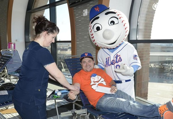 NY Mets, Blood drive, NYC, New York Blood Center, tickets, Mets, Citi Field, Mr. Met
