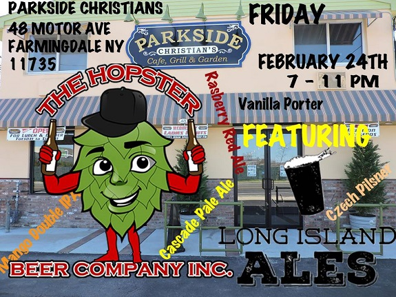 Parkside Christians, Farmingdale, NY, Mango Double IPA, Rasberry Red Ale, Honey Porter ,4 Hopped IPA, Vanilla Porter, Czech Pilsner, The Hopster Beer Company, Long Island Ales, Peter William Simmons Memorial Fund, beer, craft beer, The Brew Babe