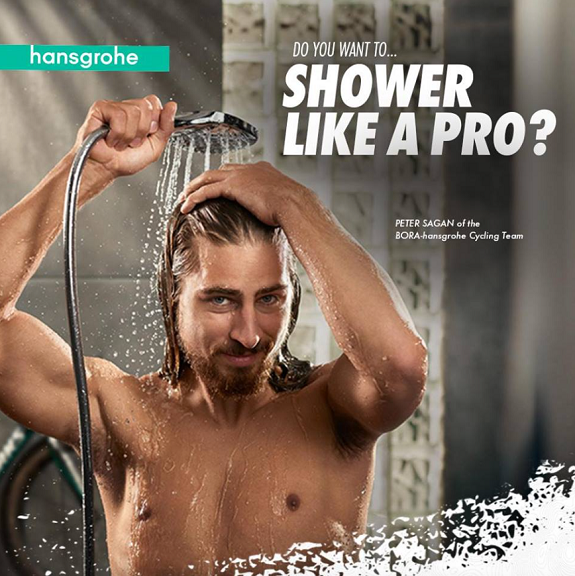 "Hansgrohe USA Cheers On Bora-Hansgrohe Team With ""Shower Like A Pro ..."