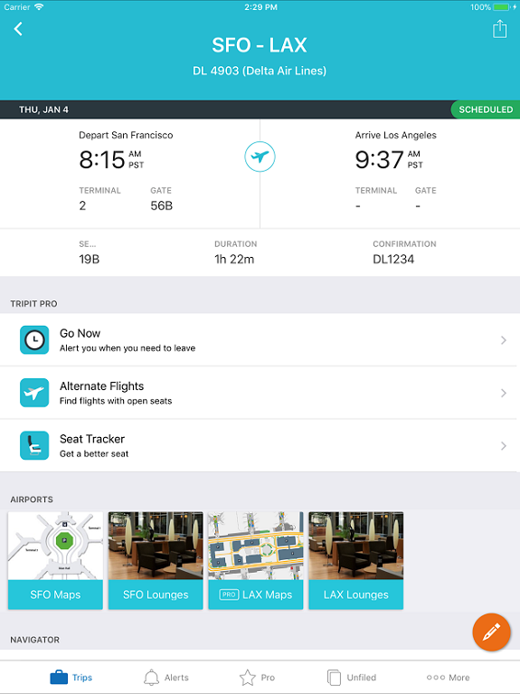 TripIt, TripIt Pro, travel, itinerary, iPad, drag and drop