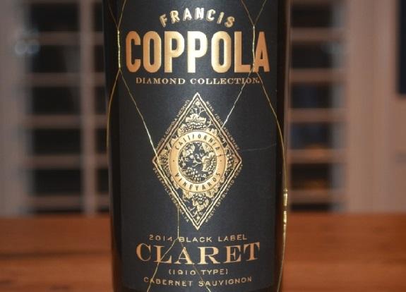 Francis Coppola, Claret, Wine Review, Black Label, Diamond Collection, Cabernet Sauvignon