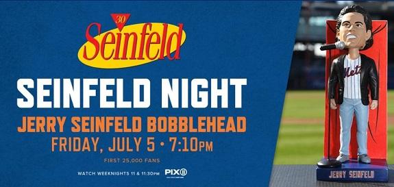 Seinfeld, Seinfeld Night, Mets, bobblehead, Jerry Seinfeld, Jerry Seinfeld Bobblehead, Mets, CitiField