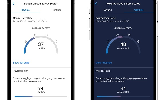 TripIt, safety, neighborhoods, neighborhood safety, safety ratings, dark mode, TripIt Updates