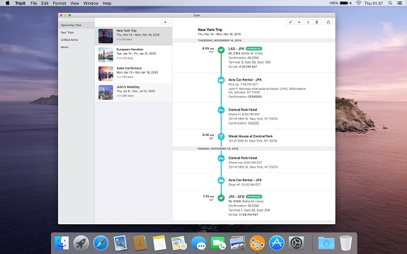 TripIt, Concur, travel, travel blogger, Mac, iPhone, Apple Watch, iPad