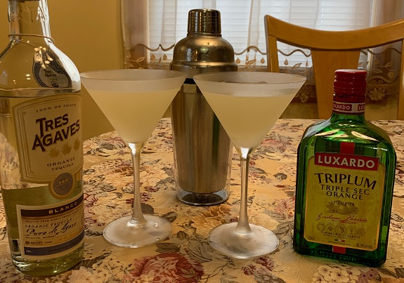 Margarita, Tres Agaves, limes, simple syrup, Luxardo, Triple Sec, recipe, bartender, home bartender